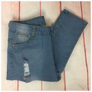 Denim - Distressed Cotton Casual Skinny Boutique Jean NEW